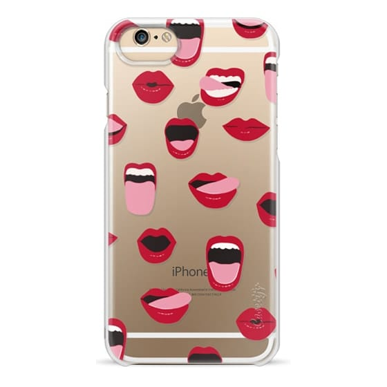iPhone 6 Cases - Valentines Sexy Lips and Kisses Transparent Loves Pink Miniature Version