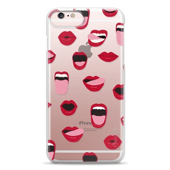 iPhone 6s Plus Cases - Valentines Sexy Lips and Kisses Transparent Loves Pink Miniature Version