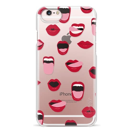 iPhone 6s Cases - Valentines Sexy Lips and Kisses Transparent Loves Pink Miniature Version