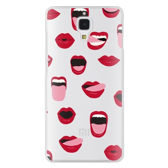 Xiaomi 4 Cases - Valentines Sexy Lips and Kisses Transparent Loves Pink Miniature Version