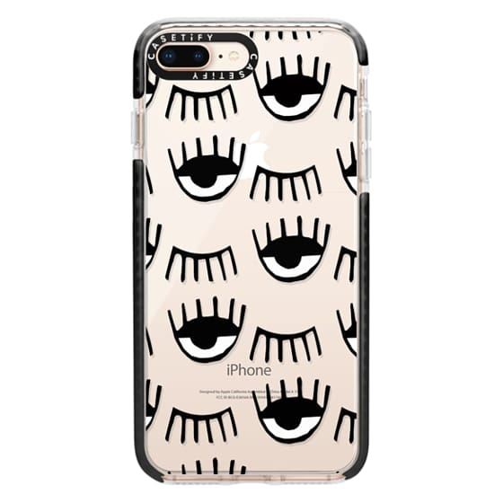 iPhone 8 Plus Cases - Evil Eyes N Lashes