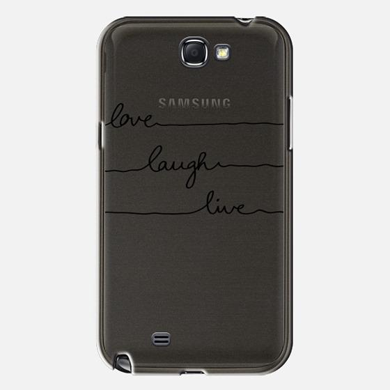 Love Laugh Live transparent