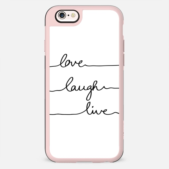 Love Laugh Live White - New Standard Case