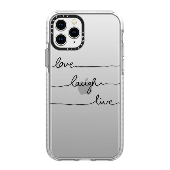 iPhone 11 Pro Cases - Love Laugh Live transparent
