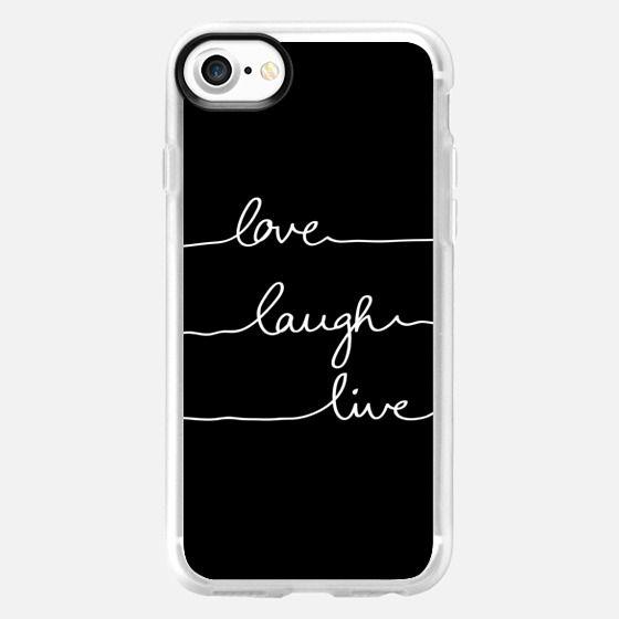 Love Laugh Live black - Classic Grip Case