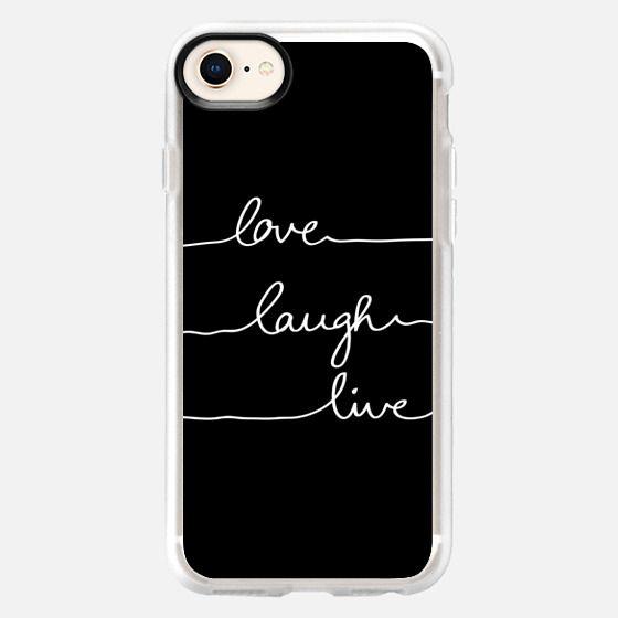 Love Laugh Live black - Snap Case