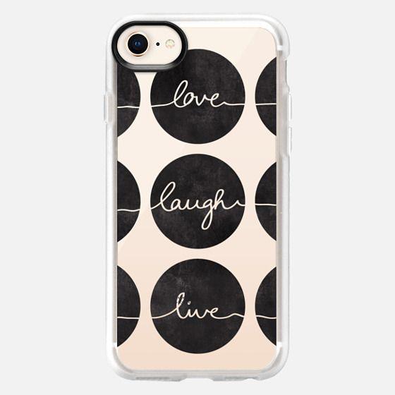 Love Laugh Live 2 black transparent - Snap Case