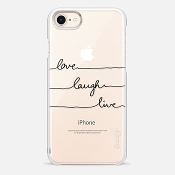 iPhone 8 Case Love Laugh Live transparent