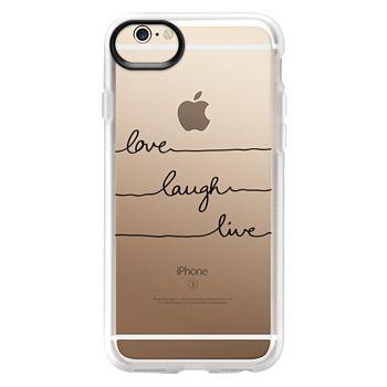Grip iPhone 6 Case - Love Laugh Live transparent