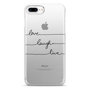 Snap iPhone 7 Plus Case - Love Laugh Live transparent