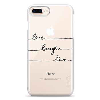 Snap iPhone 8 Plus Case - Love Laugh Live transparent