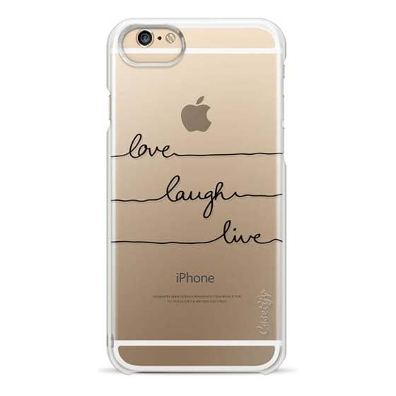 iPhone X Cases - Love Laugh Live transparent