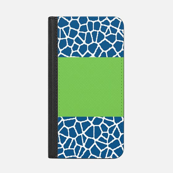 staklo (dark blue w/ green stripe) - Wallet Case