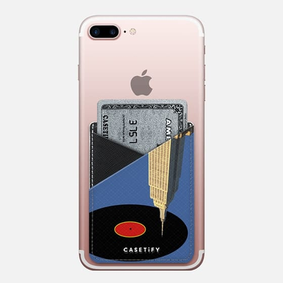 glazba v.2 - Saffiano Leather Phone Wallet
