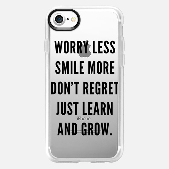 Learn & Grow - Transparent (Black) - Wallet Case