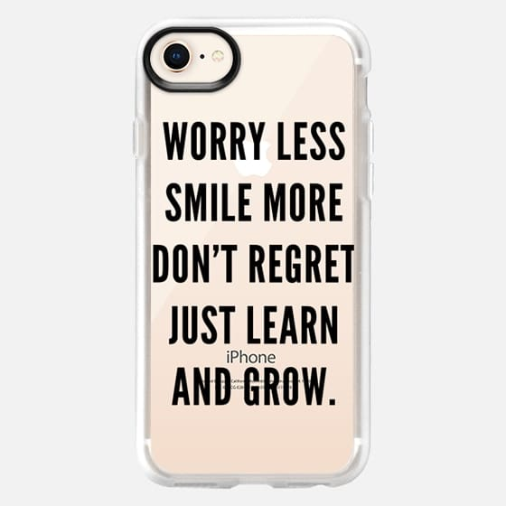 Learn & Grow - Transparent (Black) - Snap Case