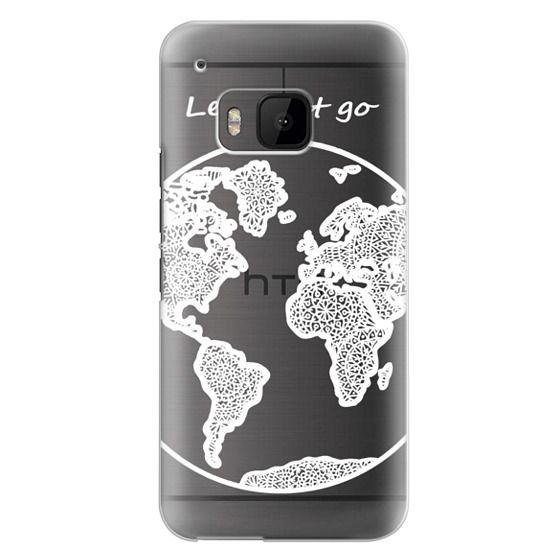Htc One M9 Cases - White Globe Mandala