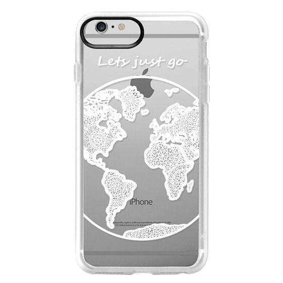 iPhone 6 Plus Cases - White Globe Mandala