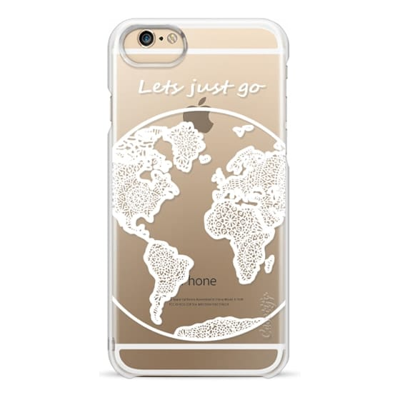 iPhone 6 Cases - White Globe Mandala