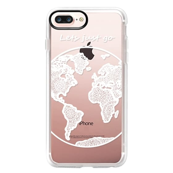 iPhone 7 Plus Cases - White Globe Mandala