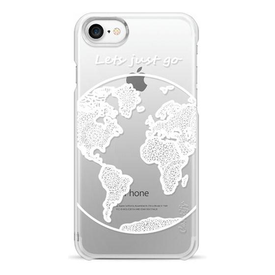 iPhone 7 Cases - White Globe Mandala