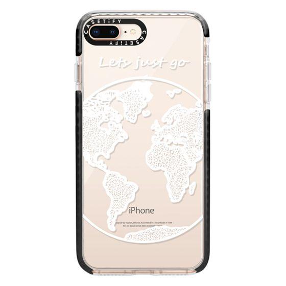 iPhone 8 Plus Cases - White Globe Mandala
