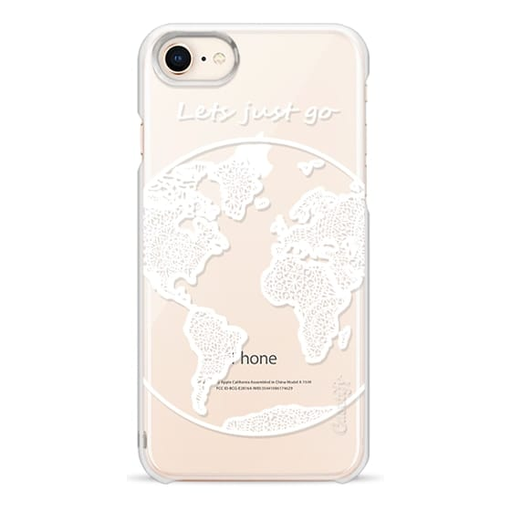 iPhone 8 Cases - White Globe Mandala