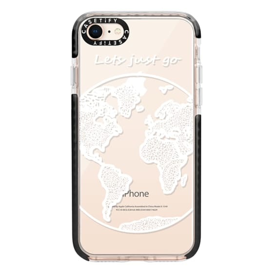 iPhone 8 Cases - White Globe Mandala