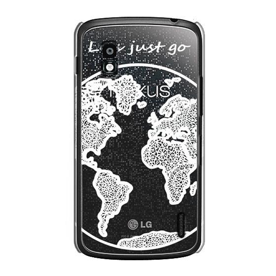 Nexus 4 Cases - White Globe Mandala