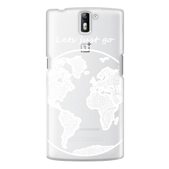 One Plus One Cases - White Globe Mandala