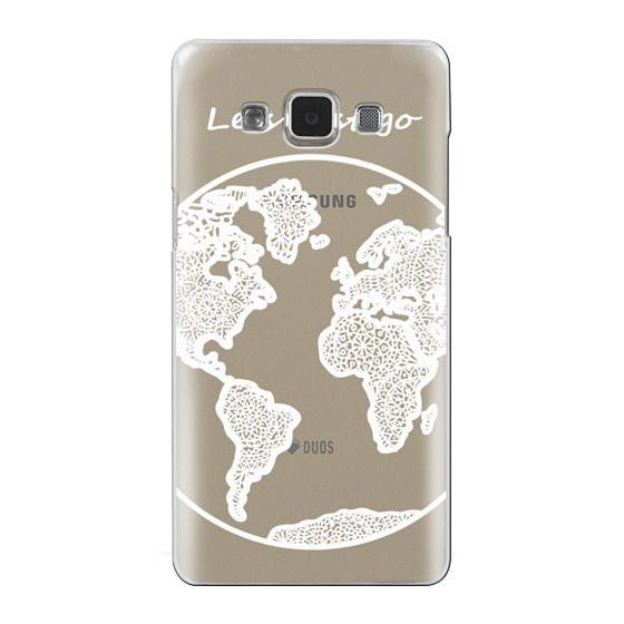 Samsung Galaxy A5 Cases - White Globe Mandala