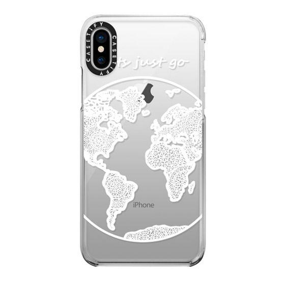 iPhone X Cases - White Globe Mandala