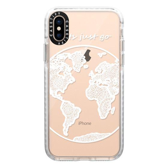 iPhone XS Cases - White Globe Mandala