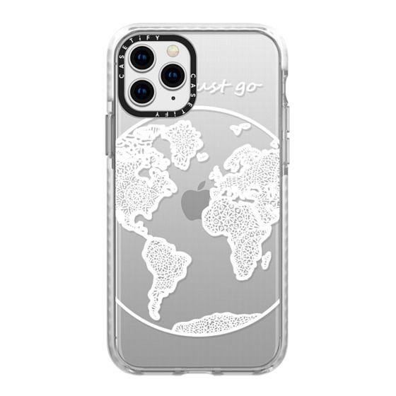 iPhone 11 Pro Cases - White Globe Mandala