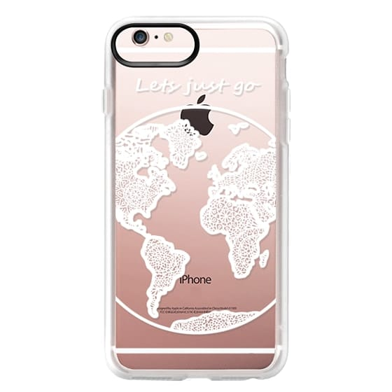 iPhone 6s Plus Cases - White Globe Mandala