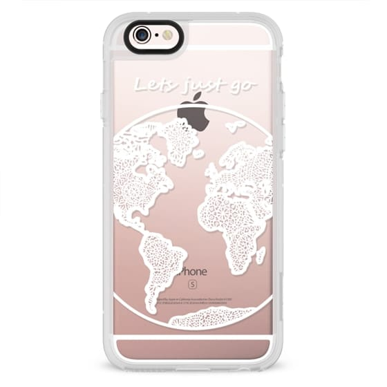 iPhone 6s Cases - White Globe Mandala