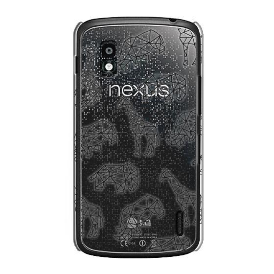 Nexus 4 Cases - Geometric African Animals