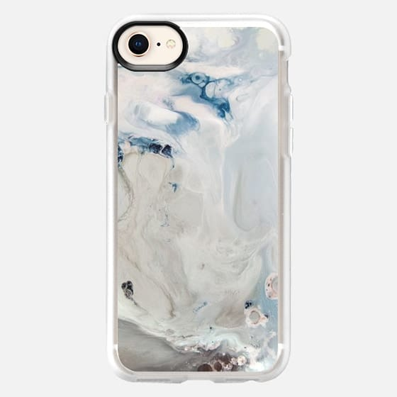 New White Marble - Snap Case