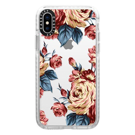 iPhone X Cases - Bronze Flowers