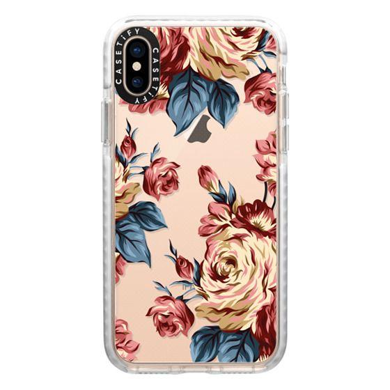 iPhone XS Cases - Bronze Flowers