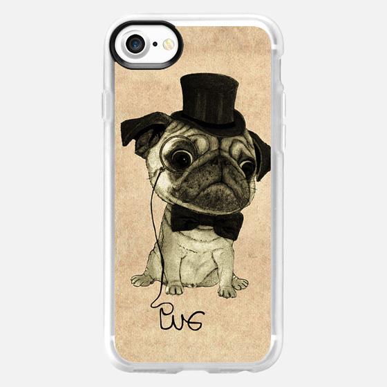 Pug; gentle pug - Wallet Case