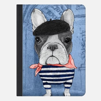 iPad Air 2 ケース Frenchie with Arc de Triomphe