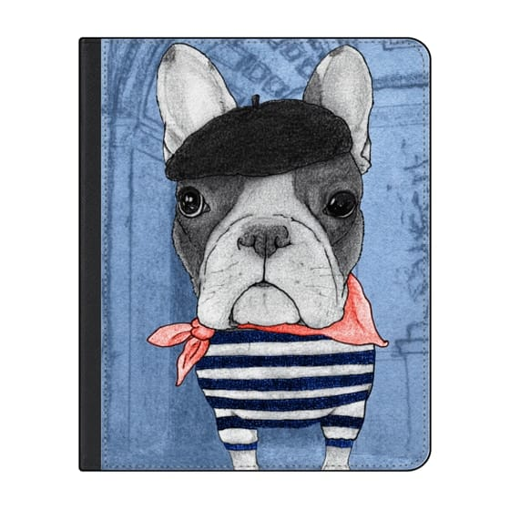 12.9-inch iPad Pro (2018) Covers - Frenchie with Arc de Triomphe