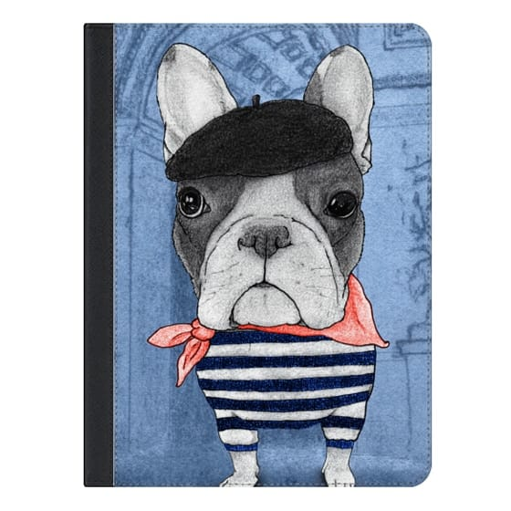 9.7-inch iPad Pro Covers - Frenchie with Arc de Triomphe