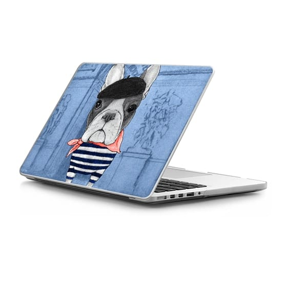 MacBook Pro Retina 15 Sleeves - Frenchie with Arc de Triomphe