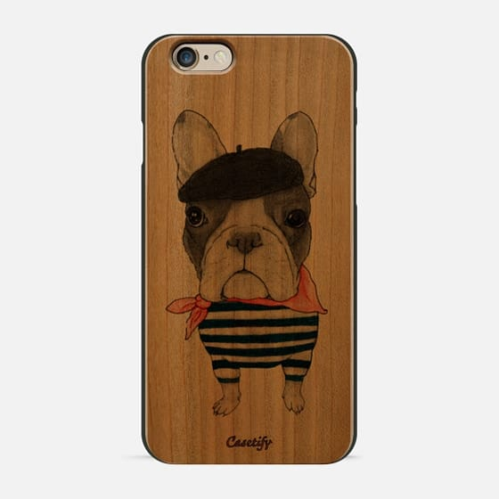 French Bulldog (wood) - Wood Case
