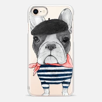 iPhone 8 Case French Bulldog (transparent)