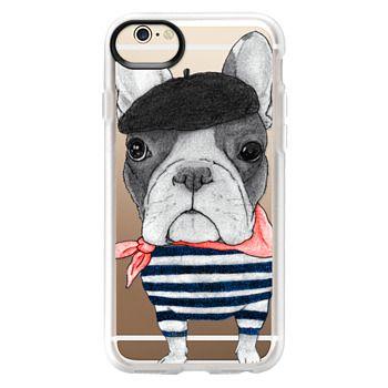 Grip iPhone 6 Case - French Bulldog (transparent)