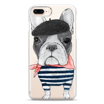 Snap iPhone 8 Plus Case - French Bulldog (transparent)