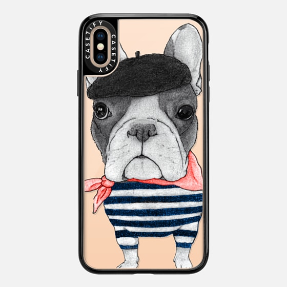 iPhone 7 Plus/7/6 Plus/6/5/5s/5c Case - French Bulldog (transparent)